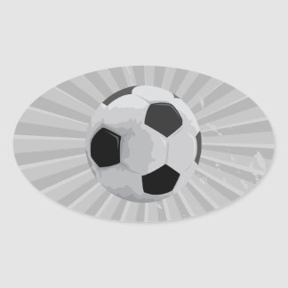 realistic soccer ball vector graphic oval sticker