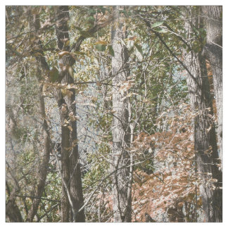 Realistic Tree Camouflage Pattern Print Brown Fabric