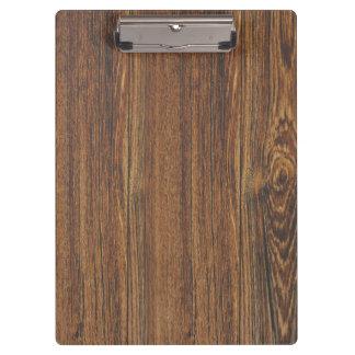 Realistic vintage woodgrain clipboard