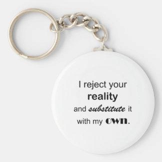 Reality Basic Round Button Key Ring