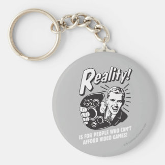 Reality: Can't Afford Video Games Basic Round Button Key Ring
