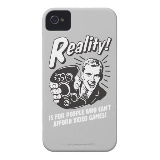 Reality: Can't Afford Video Games Case-Mate iPhone 4 Cases