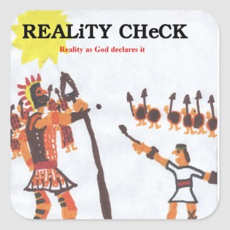 Reality Check - David & Goliath Square Sticker