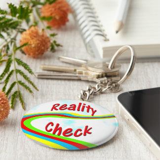 Reality Check - Key Fob Basic Round Button Key Ring