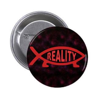 Reality Darwin Fish 6 Cm Round Badge
