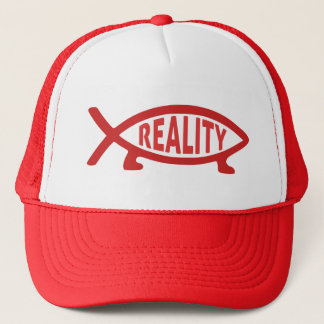 Reality Darwin Fish Trucker Hat