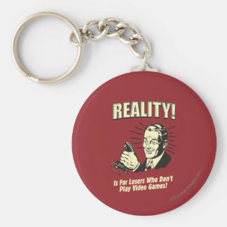 Reality: For Losers Basic Round Button Key Ring