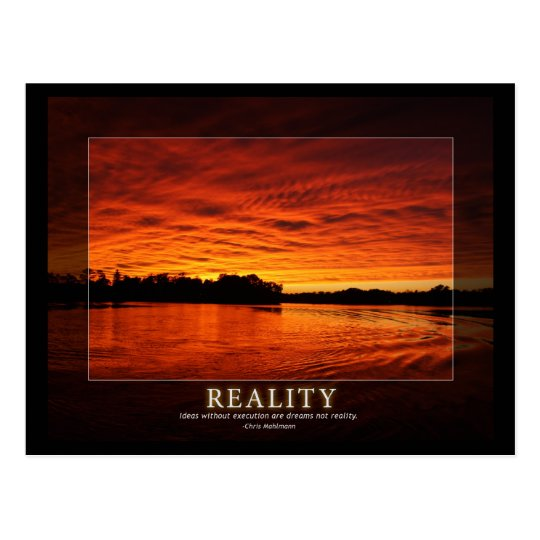 Reality - Ideas in Motivation Postcard