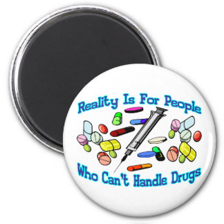 Reality Is For People 6 Cm Round Magnet