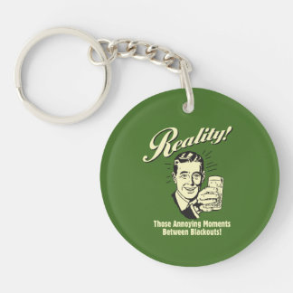 Reality: Moments Between Blackouts Double-Sided Round Acrylic Key Ring