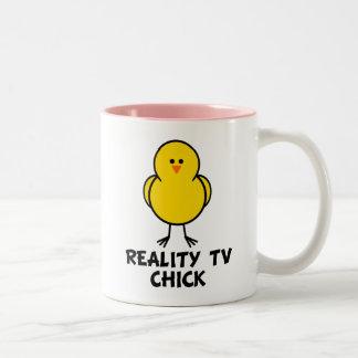 Reality TV Chick Two-Tone Coffee Mug