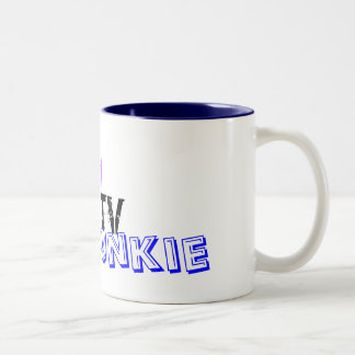Reality TV Junkie Two-Tone Mug