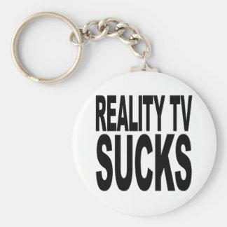Reality TV Sucks Basic Round Button Key Ring