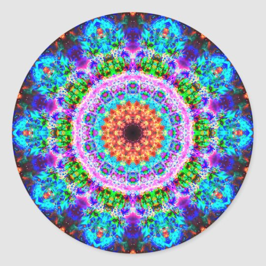 Really Colourful Mandala Classic Round Sticker