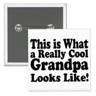 Really Cool Grandpa 15 Cm Square Badge