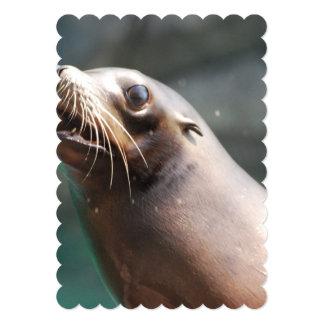 Really Cute Sea Lion 5x7 Paper Invitation Card