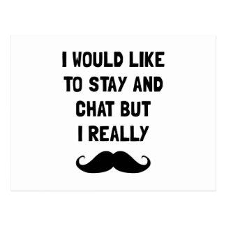 Really Moustache Postcard