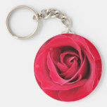 really red rose keyring keychain