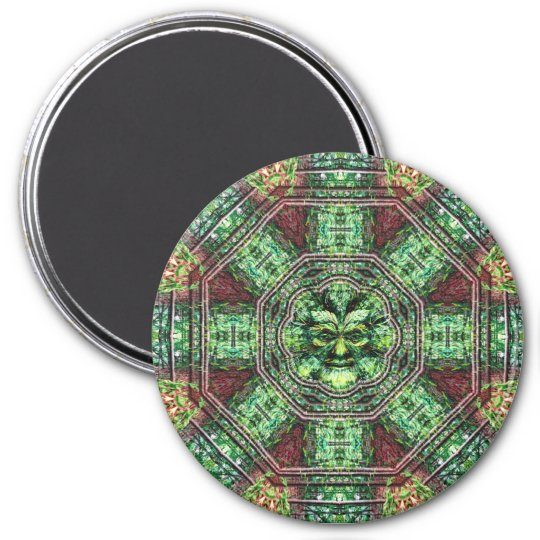 Realm of the Green Man 7.5 Cm Round Magnet