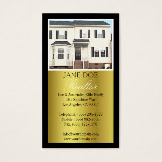 Realtor B/W Photo Script Gold Metallic