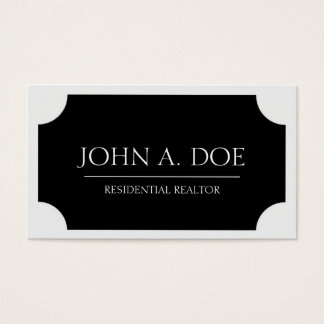 Realtor Black Plaque/Classic White