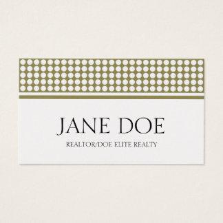 Realtor Golden Dot Design Business Card