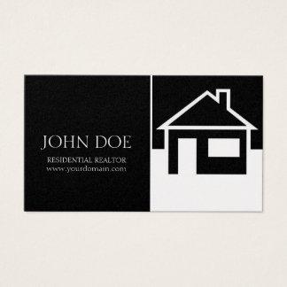 Realtor House/Black Platinum Paper Business Card