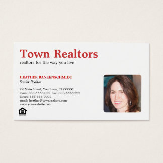 Realtor Photo Business Card
