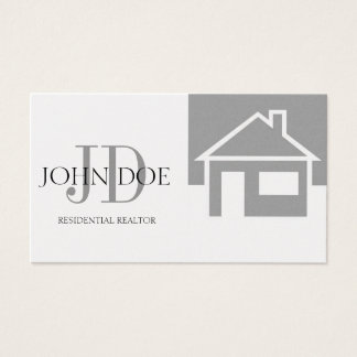Realtor Platinum House/Monogram Business Card
