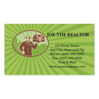 Realtor Real Estate Salesman House Retro Business Card