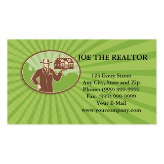 Realtor Real Estate Salesman House Retro Business Card