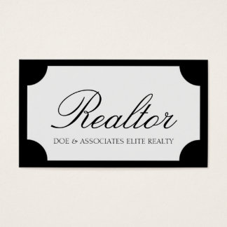 Realtor Script Black/White Plaque