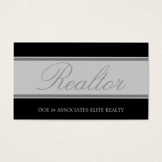 Realtor Script Silver Banner Business Card
