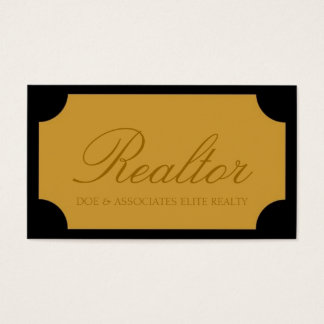 Realtor Script Yellow Gold Plaque
