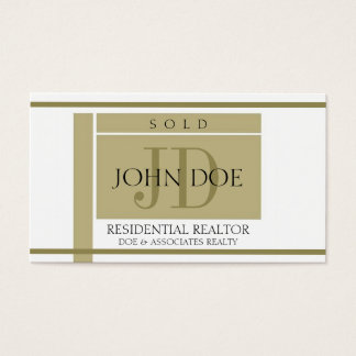 Realtor Sign Gold Stripes W/W