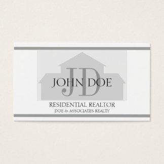 Realtor Silver House W/W Business Card