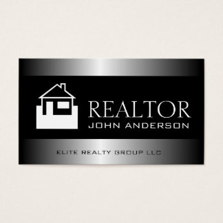 Realtor Silver Metal Metallic Border