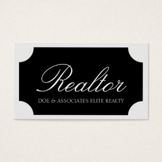 Realtor White Script /Black Plaque