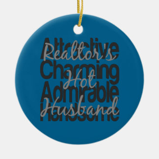 Realtors Hot Husband Christmas Ornament