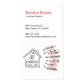 Realty Property Values Flow Chart Business Card Templates