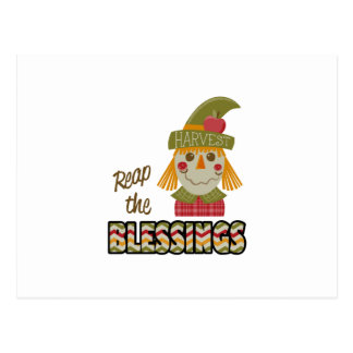 Reap The Blessings Postcard
