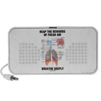 Reap The Rewards Of Fresh Air Breathe Deeply Laptop Speakers