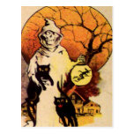 Reaper Black Cat (Vintage Halloween Card) Postcard