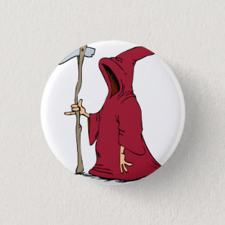 Reaper Drawing 3 Cm Round Badge