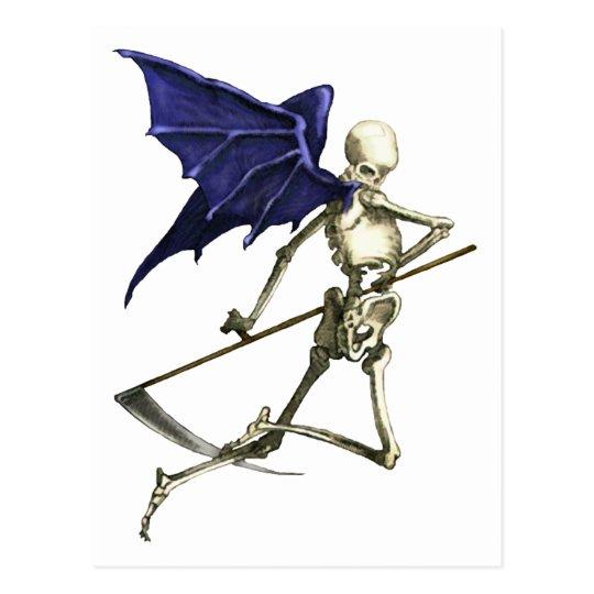 Reaper on Dark Wings of Death Postcard