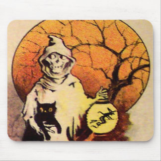 Reaper (Vintage Halloween Card) Mouse Pad