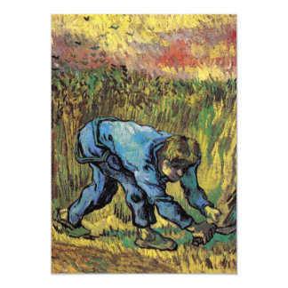 Reaper with Sickle after Millet by van Gogh Personalized Announcement