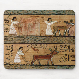 Reaping and ploughing, detail a depiction mouse mat