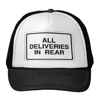 Rear delivery sign hat