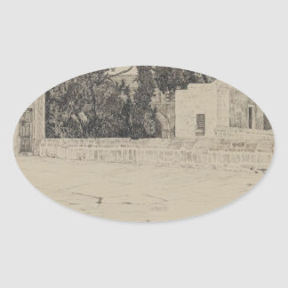 Rear of the Mosque of Omar by James Tissot Oval Sticker